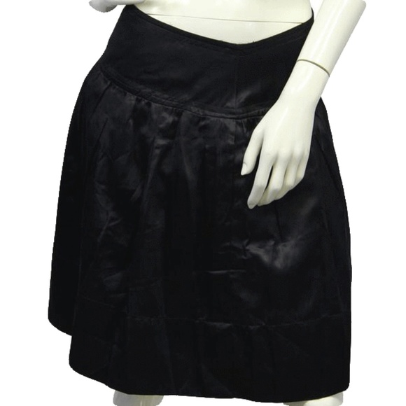 BCBG Other - BCBG Black Satin Skirt Size 10 (SKU 000028)